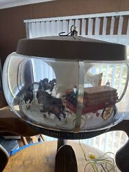 Rare Working Budweiser Beer Clydesdale Parade Rotating Carousel Light