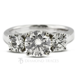 1ct F Si1 Round Cut Natural Certified Diamonds 950 Plat. Classic Engagement Ring
