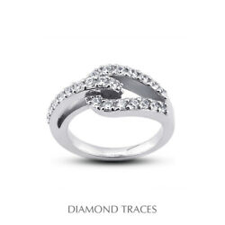 3/4 Ctw E Vs1 Round Cut Earth Mined Certified Diamonds 14k Gold Right Hand Ring