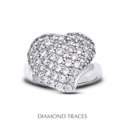 0.85 Carat E-vs2 Round Cut Natural Certified Diamonds 950 Plat. Right Hand Ring