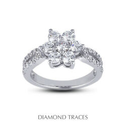 1 1/2ct F Vs2 Round Cut Earth Mined Certified Diamonds 950 Plat. Right Hand Ring