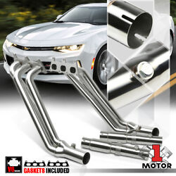 Stainless Steel Long Tube Exhaust Header Manifold For 10-11 Chevy Camaro 3.6 V6