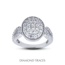 1 Ctw F Vs1 Round Brilliant Natural Certified Diamonds 18k Gold Right Hand Ring