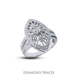 3/4 Ctw E Vs2 Round Cut Earth Mined Certified Diamonds 950 Plat. Right Hand Ring