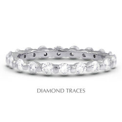 2 Ctw I Vs2 Round Cut Natural Certified Diamonds 950 Plat. Classic Eternity Ring