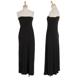 Issey Miyake Poly Stretch Tube Top Black Size L Women's Dress Polyester