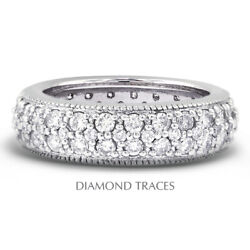 2 1/2 Ctw H Si1 Round Cut Earth Mined Certified Diamonds 18k Gold Eternity Ring