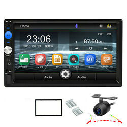 Bluetooth 7in Car Mp5 Player Fm Tf Touch Screen Stereo Radio Aux Input W/ Camera