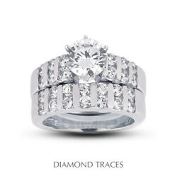 1.65ct G-vs2 Round Earth Mined Certified Diamonds 18k Classic Wedding Ring Set