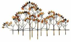 Bellaa 23448 Metal Wall Decor Tree of Life Leaf Floral Accents Wrought Iron P...