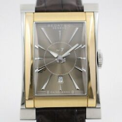 Bedat And Co No.7 Ref.737 Automatic Rose Gold Bezel Brown Dial Leather Men's
