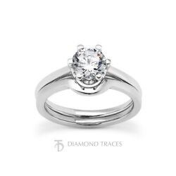1/2ct I Si3 Round Cut Earth Mined Certified Diamond 18k Gold Engagement Ring Set