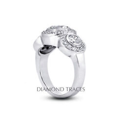 1.62 Ct G-si1 Round Cut Natural Certified Diamonds 18k Gold Halo Engagement Ring