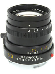 [excellent+++++] Leica Summicron-m 50mm F2 3rd Generation With Hood From Japan