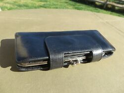 Hobo International Alice Leather Wallet BLACK $138r $36.75