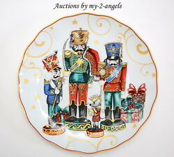 S4 New Williams-sonoma And039twas The Night Before Christmas Dinner Plates Nutcracker