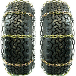 Titan Hd Alloy Square Link Tire Chains On/off Road Ice/snow/mud 7mm 235/80-17