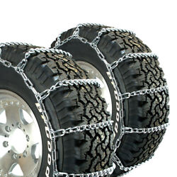 Titan Truck Link Tire Chains Wide/dual Mount On Road Snow/ice 8mm 255/80-22.5