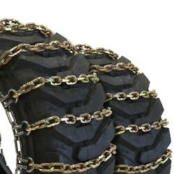 Titan Alloy Square Tractor Tire Chains 2 Link Space Ice Snow Mud 10mm 9.5-18