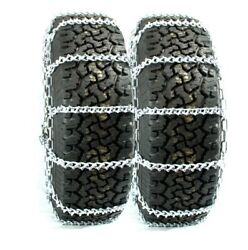 Titan Truck V-bar Link Tire Chains Dual On Road Ice/snow 8mm 14.00-24