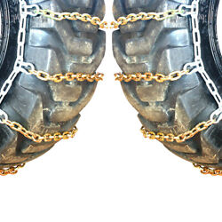 Titan Alloy Square Link Tractor Tire Chains Ice Snow Mud 10mm 380/85-34
