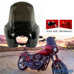 Tall Fairing Windshield Club Style For Harley Dyna T Sport Fxdl Fxdf Fxdb Fxdwg