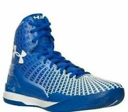 Under Armour clutchfit drive royal blue high mid basketball shoes mens rare 13.5 $75.32