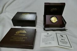 2013 W 1 Oz Proof .9999 Gold Buffalo Coin Includes Box / Coa Purest Us Gold Coin