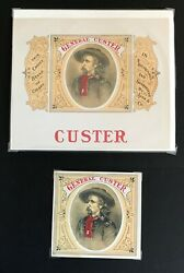 George Armstrong Custer Cigar Box Label Set Of 2 Inner And Outer Labels