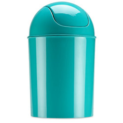 Umbra Mini Waste Can 5l With Swing Lid, Surf Blue Trashcan