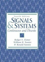Signals And Systems Continuous And Discrete 4th Edition By Ziemer Rodger E.