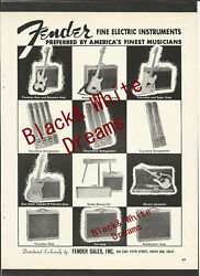 Fender Guitars Stratocaster, Tele And P. Bass Original Vintage One Of A Kind Ad