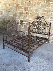 Hand Forged Queen Size Bed Frame Base, Headboard, Footboard. Local Pickup Only