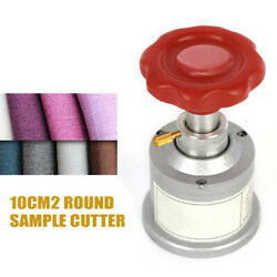 10cm² Round Sample Cutter For Textile Fabric Weight Cutter Testing 0-5mm