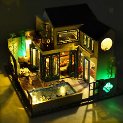 Diy Wooden Handmade Small Dolls House Building Living Room Kits Toy Gift