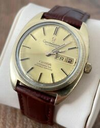 Omega Constellation 14k Automatic Vintage Menand039s Watch 1970 Serviced + Warranty