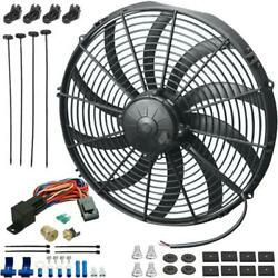 14 Inch 180w Auto Electric Fan 3/8 Npt Thermostat 180and039f Temperature Switch Kit