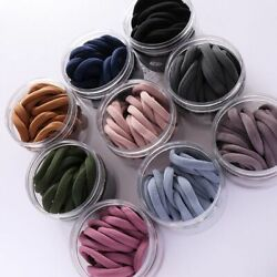 Hair Bands Womens Solid Color Stretch Elastic Simple Plain Rope Polyester Satin
