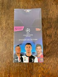 Box Sealed Topps 2019-20 50packs Champions League Haaland Rokie And Others Maybe