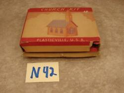 N42b Vintage Plasticville Plastic O Scale Church Building In Box