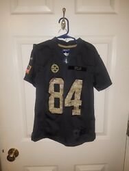 Pittsburgh Steelers Antonio Brown Salute To The Soldiers Youth Size Small 8...