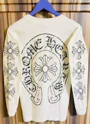 Chrome Hearts T-shirt White Long Sleeves Horse Shoe Cloth S Size Rare Used