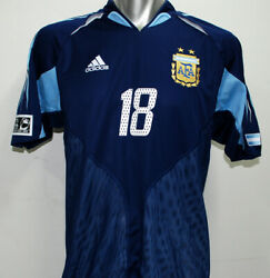 2004-05 Argentina Away S/s No.18 Messi Player U-20 Worldcup Holland