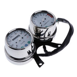 Motorcycle Dual Mechanical Odometer Speedometer And Engine Speed Instrument