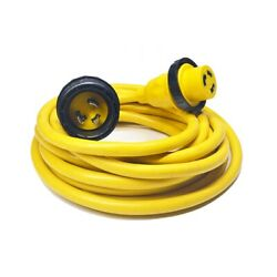 Amp Up 30a 125v X 25and039 Marine Shore Power Boat Cord Yellow 30 25 Volt Foot Ft New