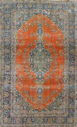 Antique Distressed Ardakan Evenly Low Pile Area Rug Hand-knotted Oriental 8and039x12and039