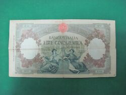 Vintage - Livres 5000 Bank Dand039italia Queens Of Sea Maritime Republics 1947