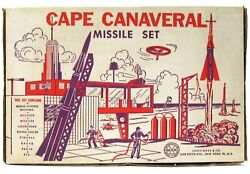 Vintage 1958 Marx Cape Canaveral Nasa Kennedy Space Center Missile Playset W/box