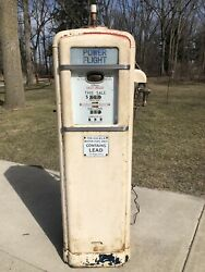 1938 Gilbarco Gandb 96 Nice All Original Gas Pump Se Michigan Oil Sign Nozzle