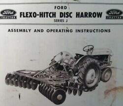 Ford Tractor Three-point Flexo Hitch Disc Harrow J Owner And Service Parts Manual